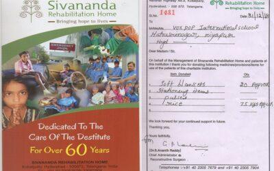 celebrating a new year 2019 @ SIVANANDA Rehabilitation Home-kukatpally