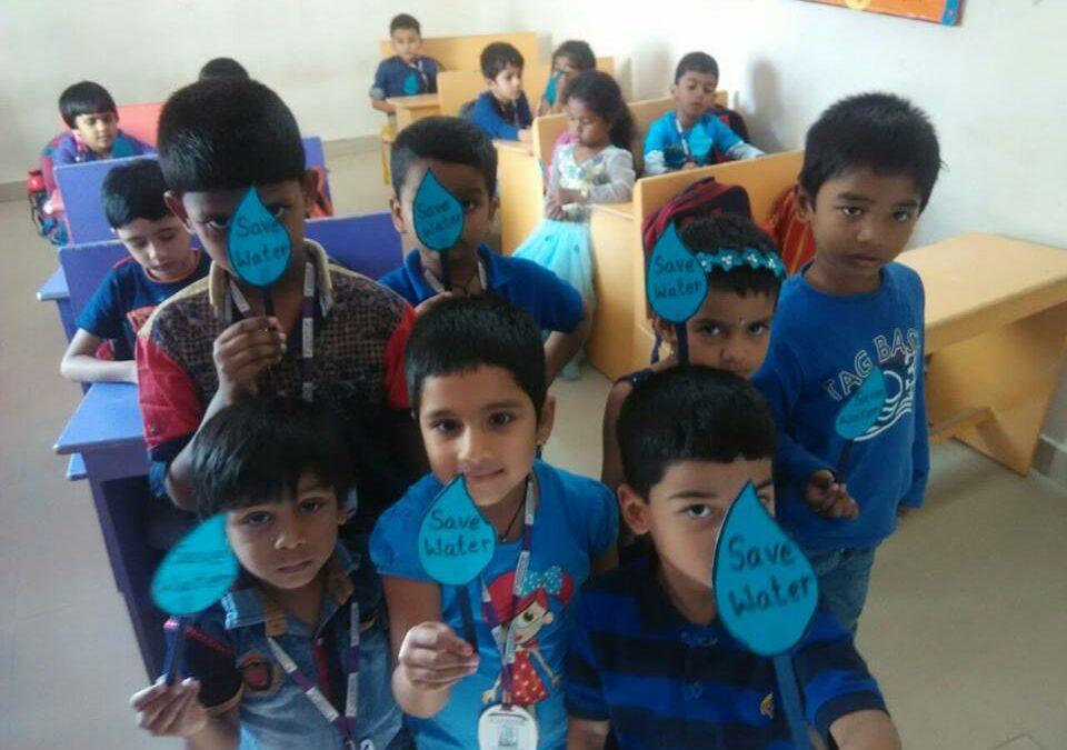 Pre primary Blue colour day celebrations.