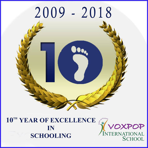 10 years excellence of schooling.
